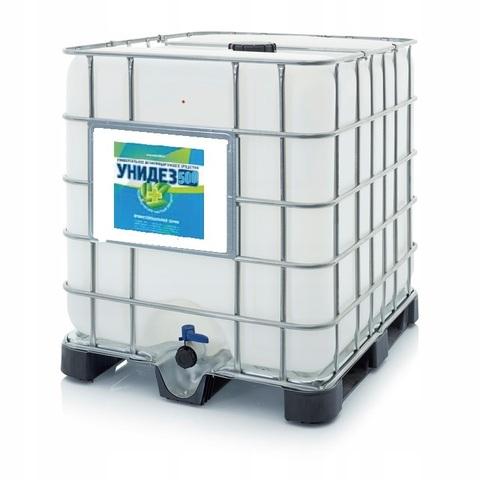 концентрат УНИДЕЗ 500 антимикробный  раствор 1000 литров Антисептик на основе хлора и и гидропероксида