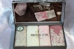 Набор полотенец JASMİNE - ЖАСМИН  в размере 30*50 /  Maison Dor (Турция)