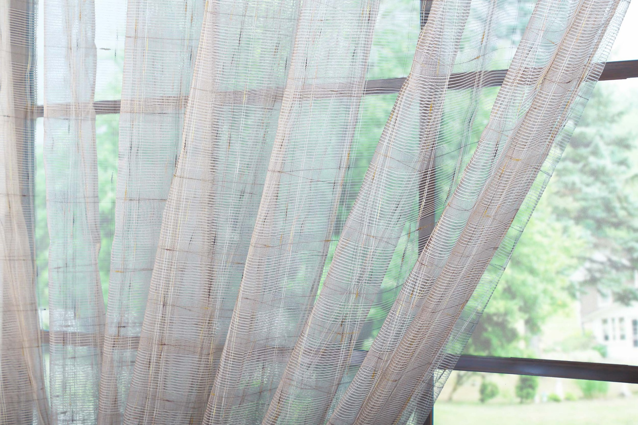 Готовый тюль сетка Монтэ (светло-коричневый)