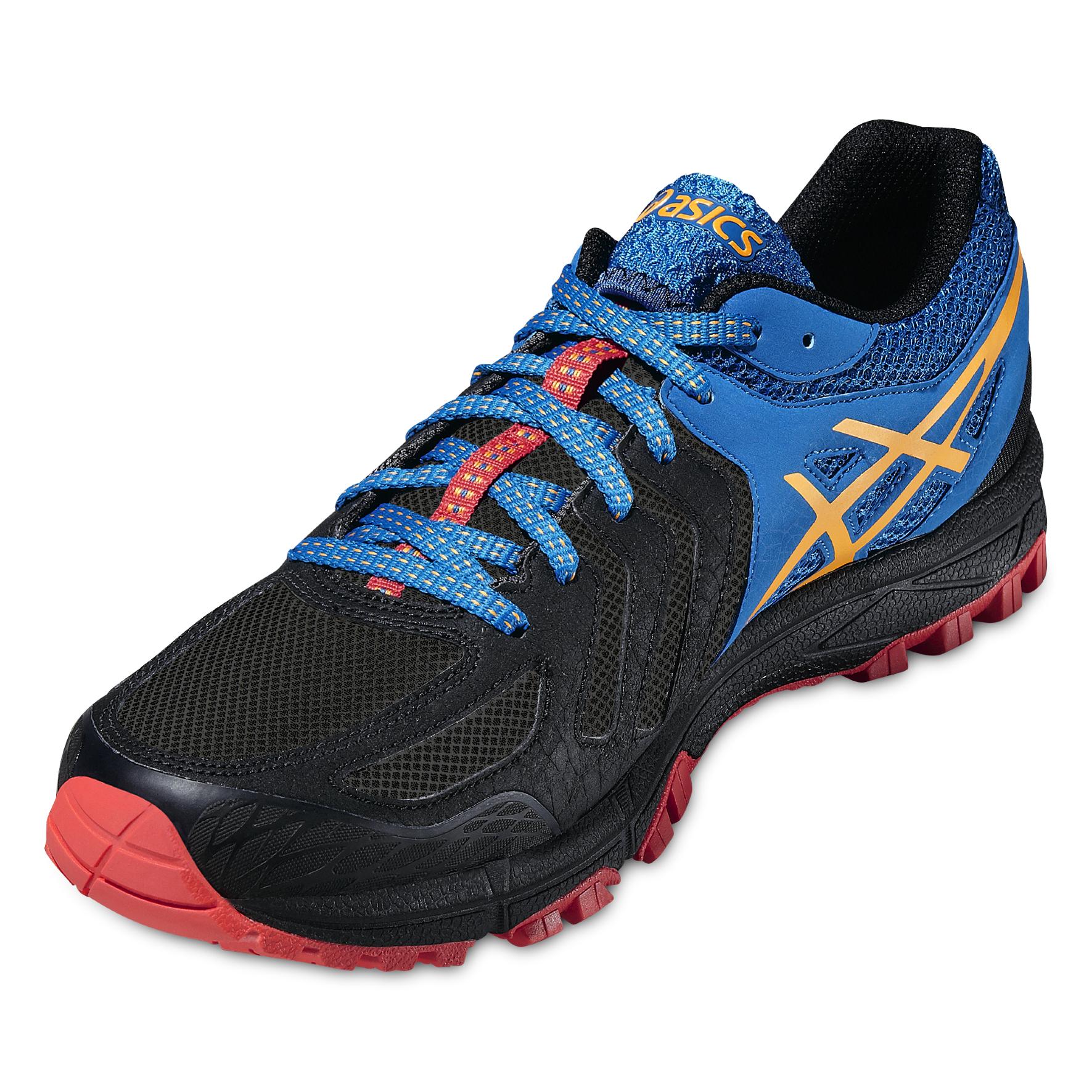 Мужские кроссовки для бега внедорожники Asics Gel-FujiAttack 5 (T630N 9009) черные фото