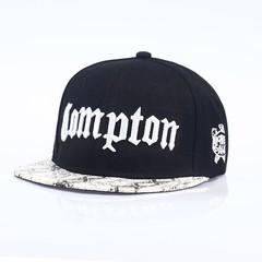 Кепка Compton черная с белым козырьком