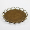 Сеттинг - основа для камеи или кабошона 20 мм (оксид латуни) (б2)