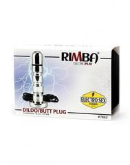 Анальное электро-дилдо Rimba Electro Anal Dildo, Bi-Polar (125 Mm)