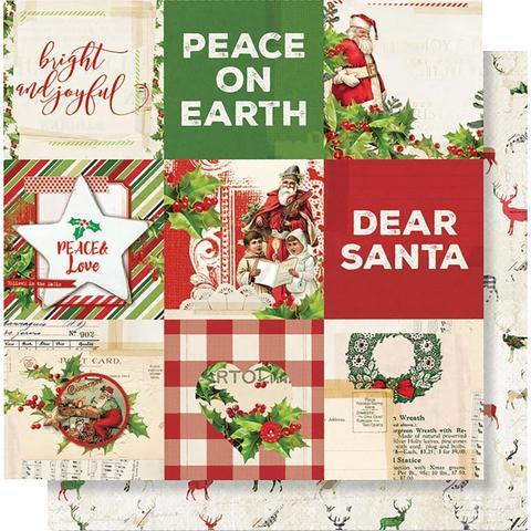 Лист двусторонней бумаги 30х30 см. - Simple Vintage Christmas - 4
