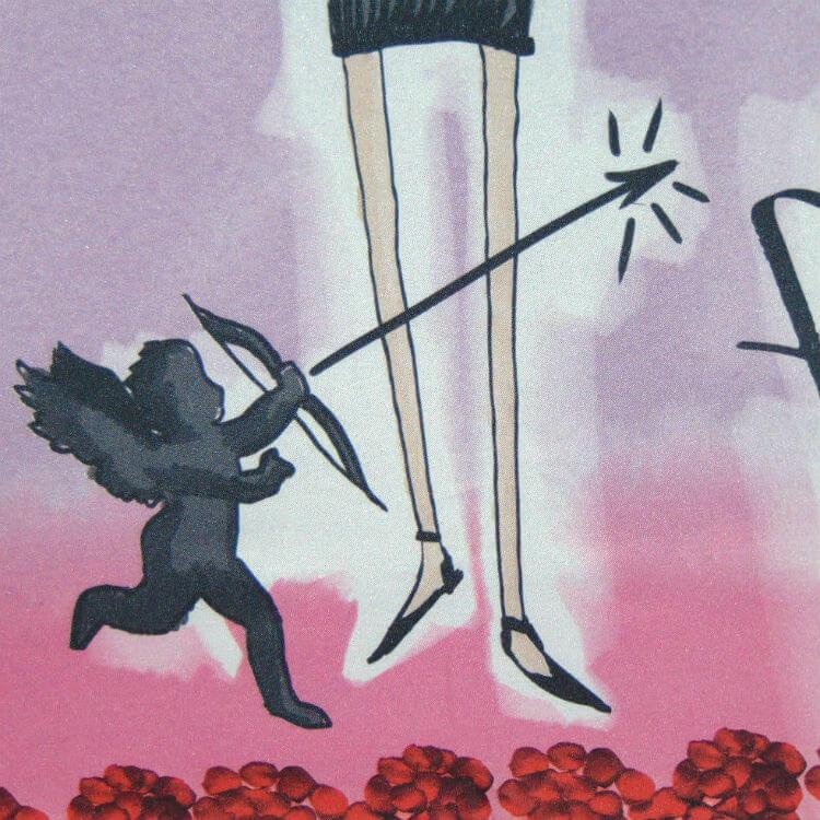 Зонт складной Perletti Chic 21195-3 Histoire d'Amour