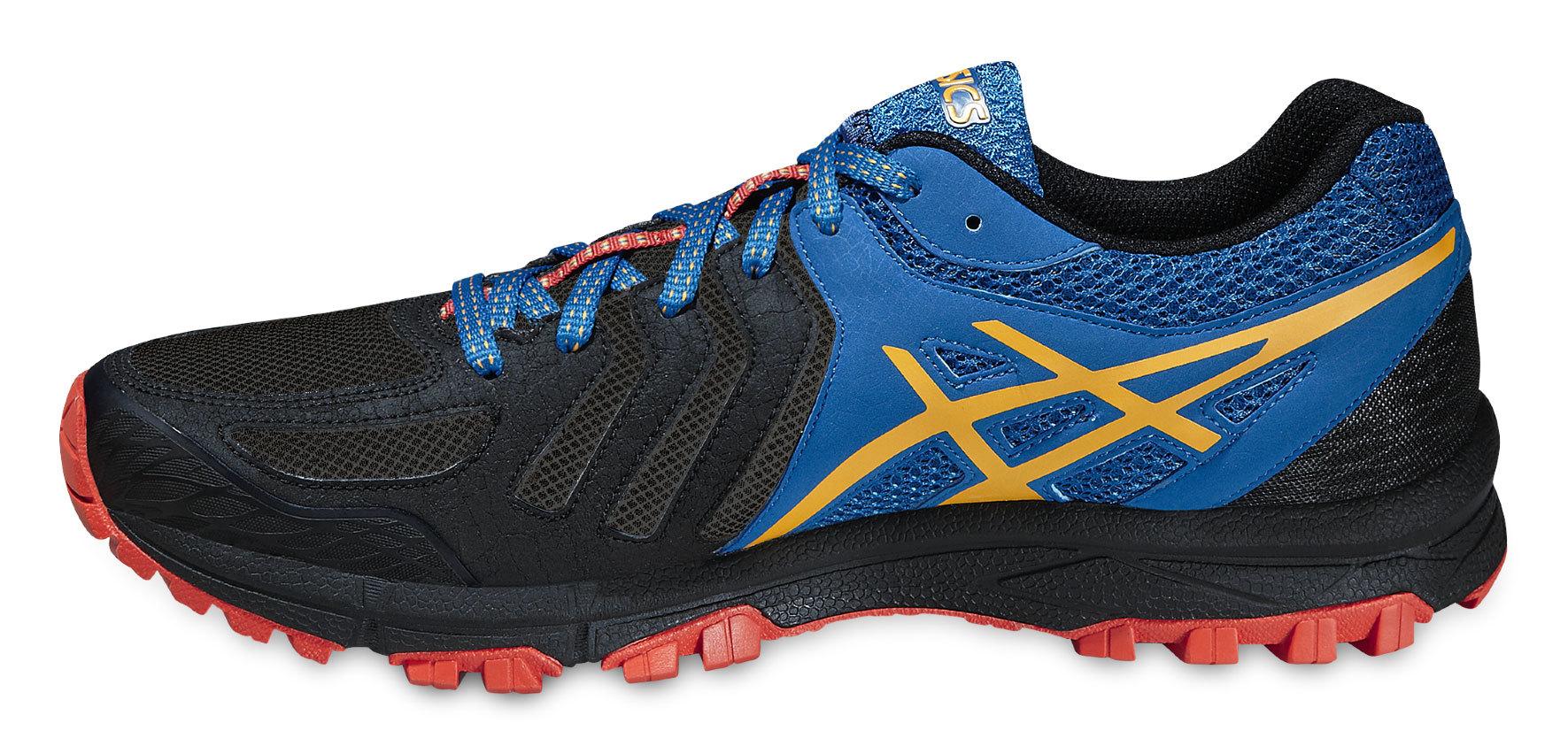Мужские беговые кроссовки внедорожники Asics Gel-FujiAttack 5 (T630N 9009) черные фото