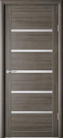 Дверь Фрегат ALBERO Вена, стекло матовое, цвет серый кедр, остекленная