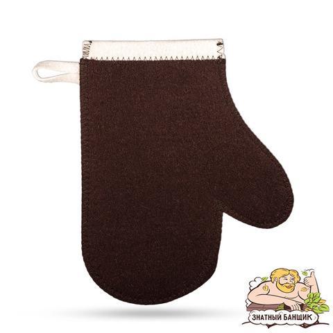Рукавица коричневая 100% шерсть