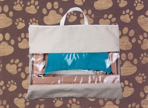 Гамак для кошек и собак элит бирюзово-голубой GK3BG