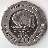 K5165, 2004, Гибралтар, 20 пенсов 300 лет британского завоевания