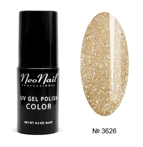 NeoNail Гель лак UV 6ml Glitter Gold №3626-1