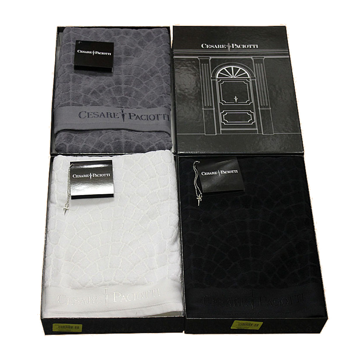 Полотенца Полотенце 100х150 Cesare Paciotti Pave Jacquard Nero черное polotentse-100h150-cesare-paciotti-pave-jacquard-nero-chernoe-italiya.JPG