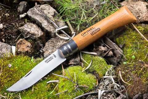 Нож Opinel №10, углеродистая сталь, бук