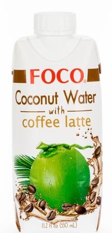 Кокосовая вода FOCO, с кофе-латте, 330 мл