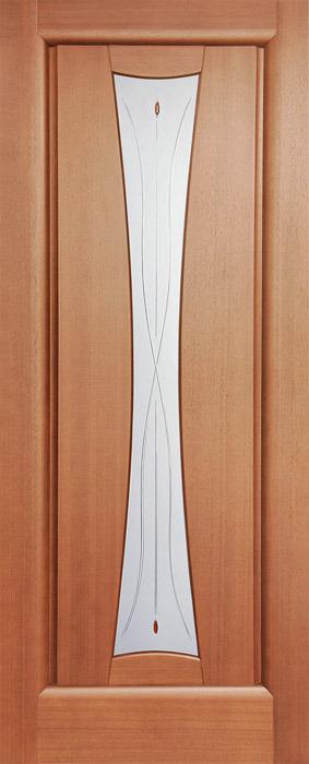 Дверь межкомнатная,Россич,Весы ДО, Цвета : Анегри, Красное дерево