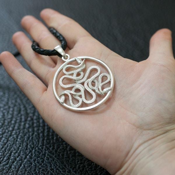 Кулоны из серебра Подвеска Змеи zmei-podveska1.jpg
