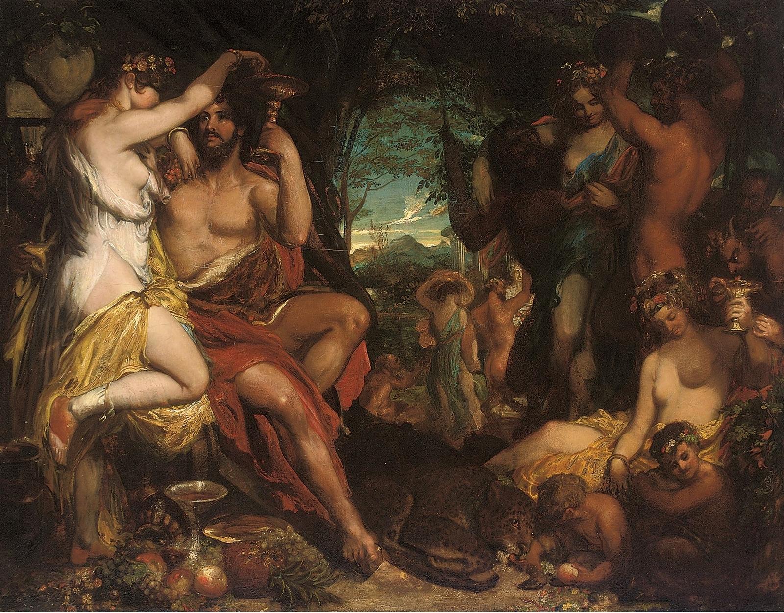 Уильям Этти. Вакханалия (A bacchanalian revel). 111 x 143.5. Холст, масло. Частное собрание.