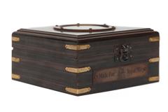Бинокль в деревянной подарочной коробке с компасом и латунным декором Secret De Maison( mod. 48366 ) — античная медь/коричневый