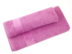 Набор полотенец 2 шт Carrara Fyber розовый