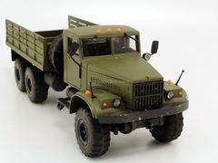 KRAZ-255 flatbed truck khaki SarAvto Agat 1:43