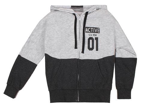 BAC004368 джемпер детский, серый/тем-серый