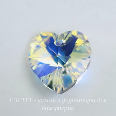 6228 Подвеска Сваровски Сердечко Crystal AB (10,3х10 мм)