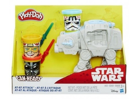 Play-doh Star Wars At-at Attack Toy With Can-heads
