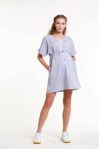 Платье для беременных и кормящих 11495 голубая полоска