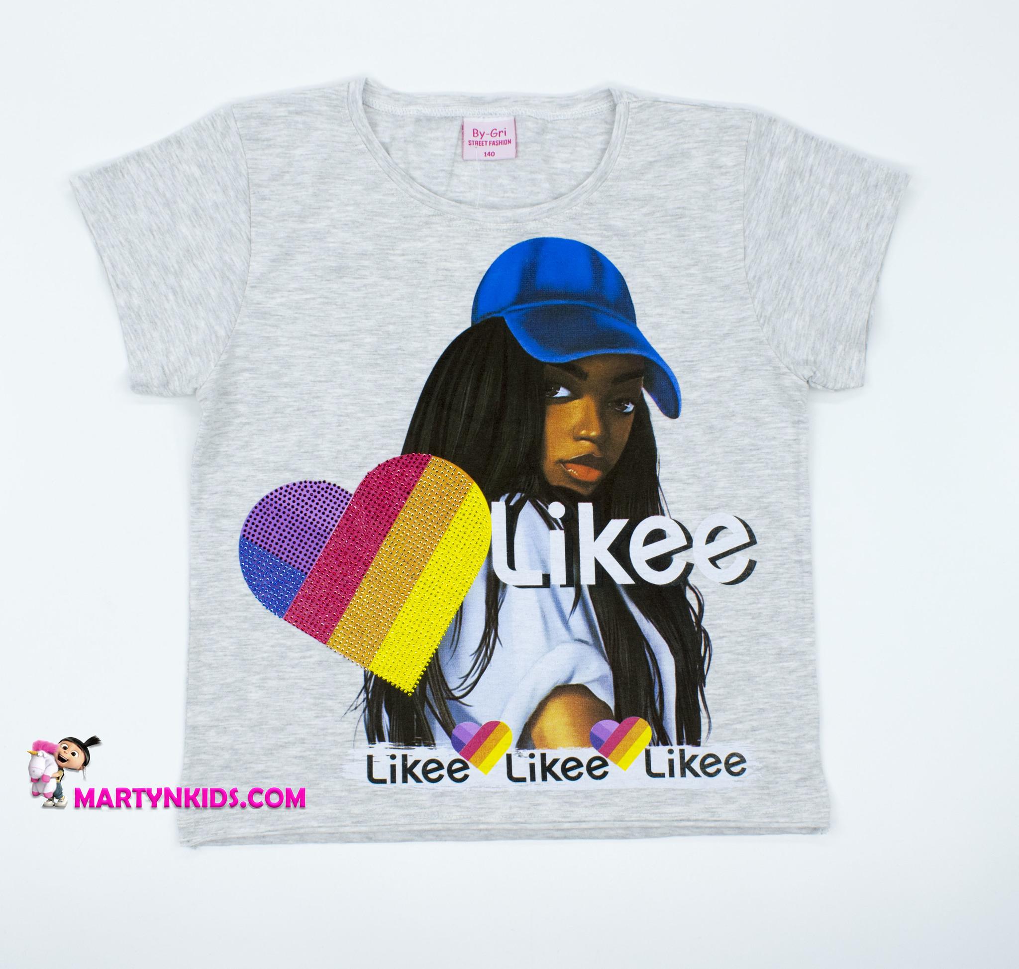 2591 кроп-топ футболка LIKEE девушка