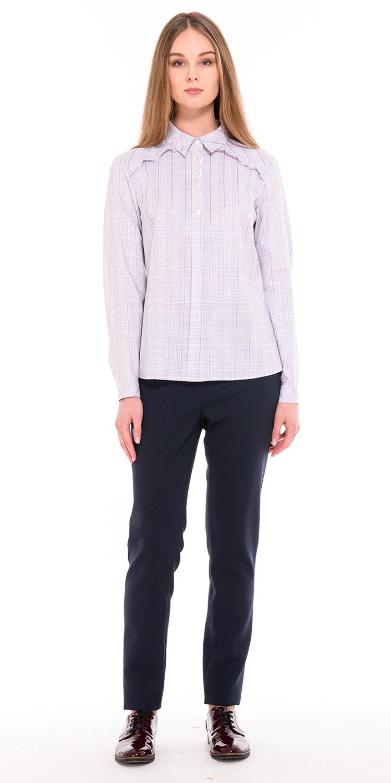 Брюки А460б-125 - Если вам надоели черные брюки — замените их на свободного кроя брюки, благородного темно-синего цвета. Это удобная модель базового гардероба, в комплекте с блузками, рубашками или т-шотами вы получите разнообразные луки для офиса и для повседневной жизни.