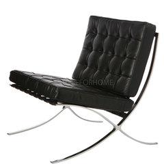 Кресло Barcelona черная кожа