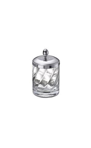 Емкость для косметики малая 88801CR Salomonic Spiral Silver от Windisch