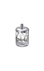 Емкость для косметики малая Windisch 88801CR Salomonic Spiral Silver