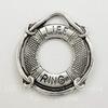"""Подвеска """"Спасательный круг"""" (цвет - античное серебро) 24х22 мм ()"""