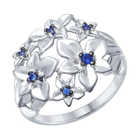 Кольцо из серебра с синими фианитами от SOKOLOV арт.94012340