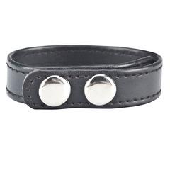 Кольцо на пенис на клепках (иск. кожа) BlueLine SNAP COCK RING ( d. 4 - 6 см.)