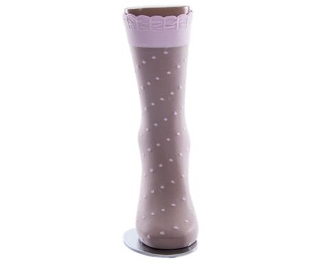 Носки детские капроновые 20 den розовые в горох