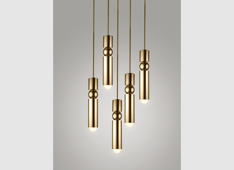 replica Lee Broom FULCRUM LIGHT BRASS ( 5 bulbs )