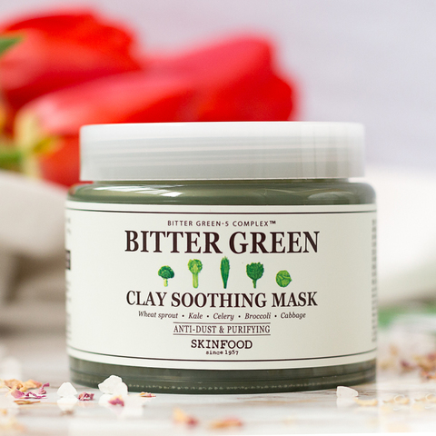 SKINFOOD Bitter Green Clay Soothing Mask, 145 gr