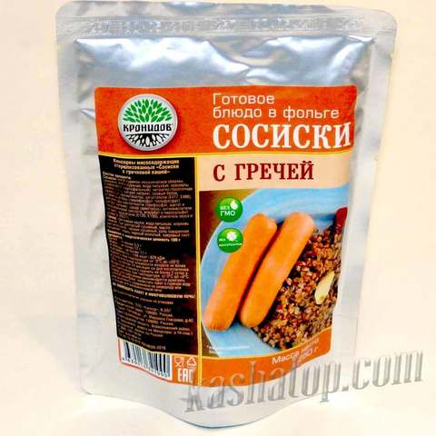 Каша гречневая с сосиской 'Кронидов', 250г