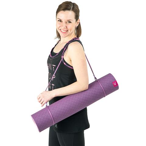 Коврик для йоги с разметкой Ежевика 183*61*5мм