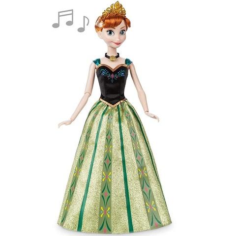 Дисней Холодное сердце Анна поющая кукла 30 см в зеленом платье