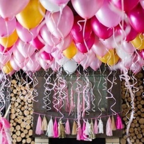 Шары на свадьбу под потолок