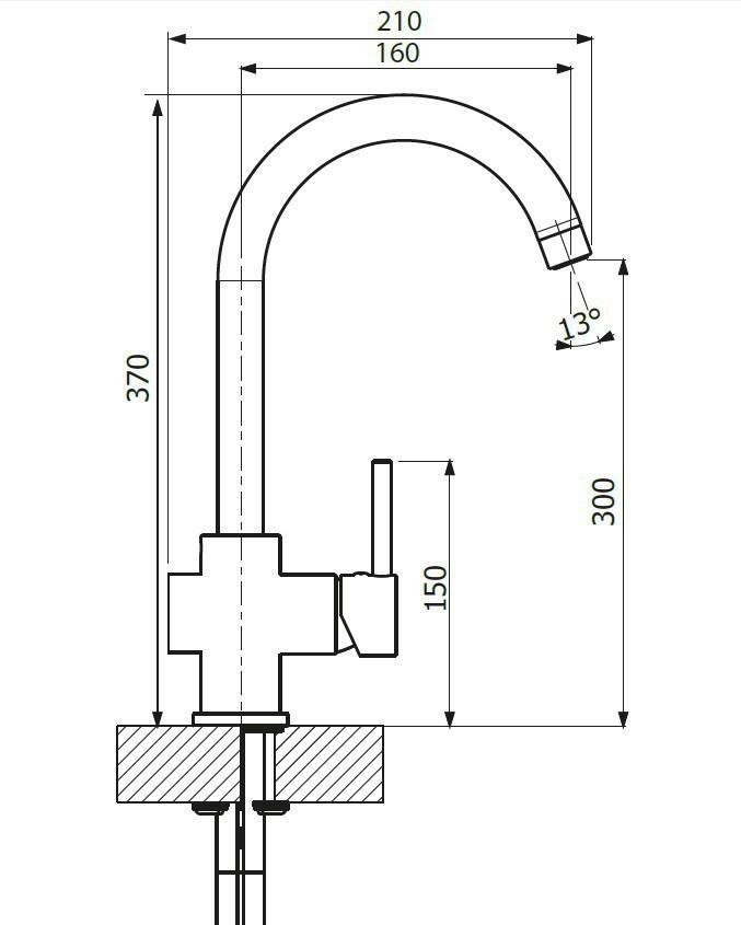Кухонный смеситель Dr. Gans DG-04 схема