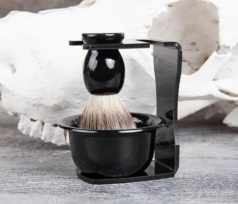 Набор аксессуаров помазок с подставкой и чаша для бритья