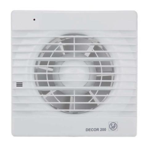 Вентилятор накладной S&P Decor 100 CH (таймер, датчик влажности)