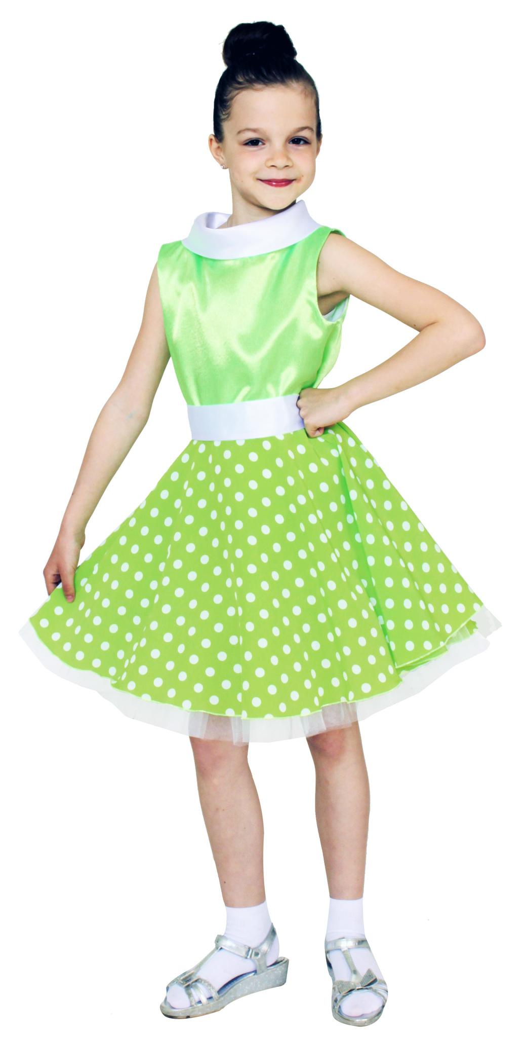 Платье стиляги салатовое детское