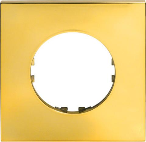 Рамка на 1 пост квадрат. Цвет Золото. LK Studio Vintage Quadro (ЛК Студио Винтаж куадро). 884116-1