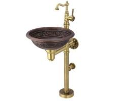 Гарнитур с медной раковиной и смесителем Bronze de Luxe 10108BR