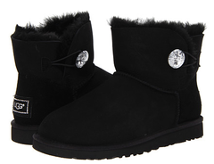 UGG Mini Bailey Button Bling Black